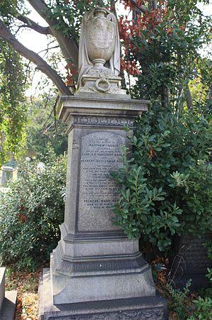 Matthew Noble - Matthew Noble's grave, Brompton Cemetery, London