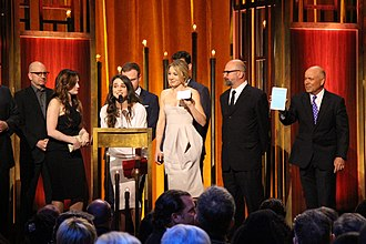 Maya Kazan - Kazan and the cast of The Knick at the Peabody Awards, 2015