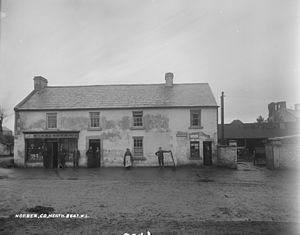 Nobber - McGuinness's Shop, Nobber at the turn of the 20th century (see also Keogan's Bar image above)