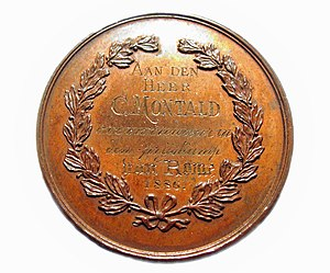 Prix de Rome (Belgium) - Prize medal received by Constant Montald in 1886