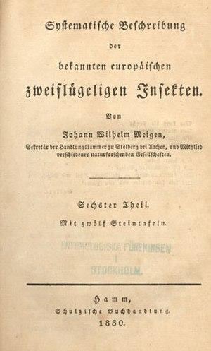 Johann Wilhelm Meigen - Frontis Systematische Beschreibung der bekannten europäischen zweiflügeligenInsekten