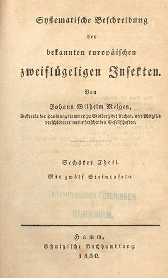 Johann Wilhelm Meigen - Frontis Systematische Beschreibung der bekannten europäischen zweiflügeligen Insekten