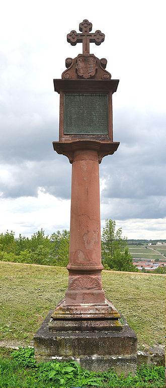 Wilhelm von Grumbach - Spot where Melchior Zobel von Giebelstadt died after assassination by Grumbach's henchman Christoph Kretzen