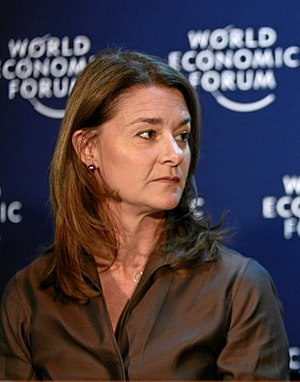 Melinda Gates in World Economic Forum (Cropped...
