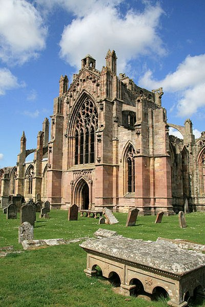 File:Melrose Abbey from the burial ground - geograph.org.uk - 781601.jpg