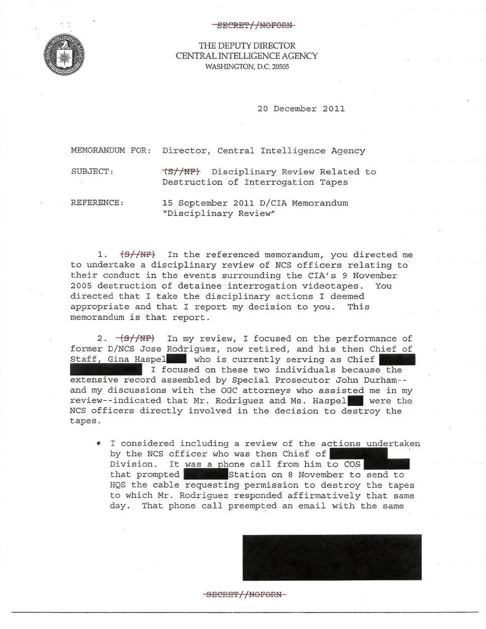 Memo on Gina Haspel Involvement in Destruction of Tapes.pdf