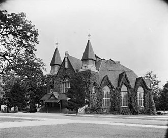 UNC Memorial Hall - The first Memorial Hall, pictured in 1885