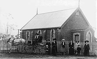 Rathscar, Victoria - Methodist Church, Upper Homebush which was subsequently dismantled in 1928 and re-erected at Rathscar West