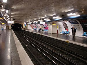 Réaumur – Sébastopol (Paris Métro) - Image: Metro Paris Ligne 3 station Reaumur Sebastopol