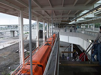 Metro Tláhuac - Tláhuac prior to its official opening in 2012.