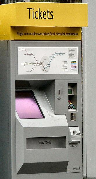 Scheidt & Bachmann Ticket XPress - This machine is installed at Stretford station on the Manchester Metrolink system.
