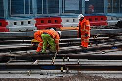 Midland Metro - track laying - Upper Bull Street - Birmingham 09.JPG