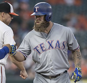 Mike Napoli - Napoli with the Rangers in 2017