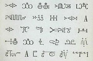 "English: A sample of Mi'kmaq ""hieroglyphi..."