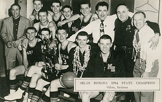 William Jordan (actor) - 1954 Milan High School Basketball Team; Jordan is in the top row, fourth from right