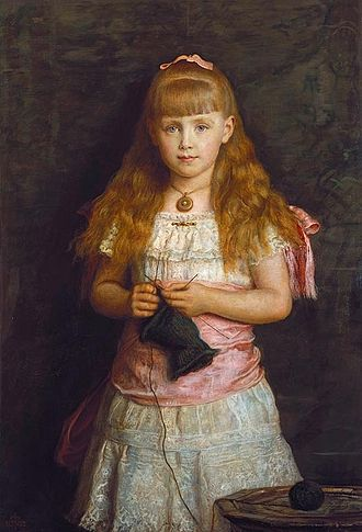 Marie of Romania - 1882 portrait by John Everett Millais commissioned by Queen Victoria and exhibited at the Royal Academy.