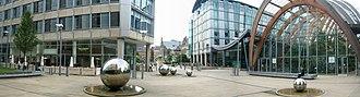 Millennium Square, Sheffield - Panorama of Millennium Square.