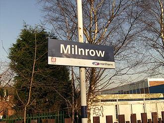 Milnrow tram stop - Image: Milnrow railway station
