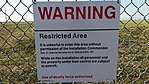 Minuteman Missile National Historic Site silo warning sign.jpg