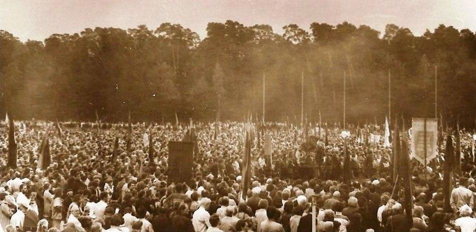 Mitingas Vingio parke Vilniuje 1988 m. (2)