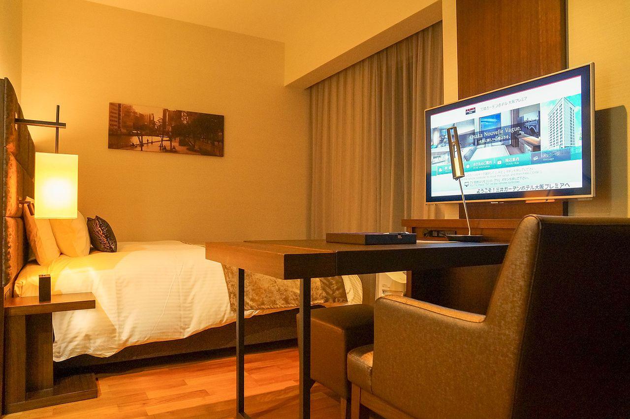 File Mitsui Garden Hotel Osaka Premier Superior Bedroom 20140316 Wikimedia Commons