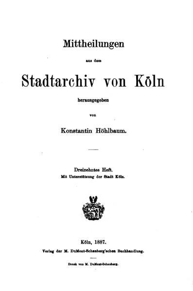 File:Mitteilungen aus dem Stadtarchiv von Köln 1887-13.djvu