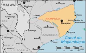 Nampula Province - Provincial map