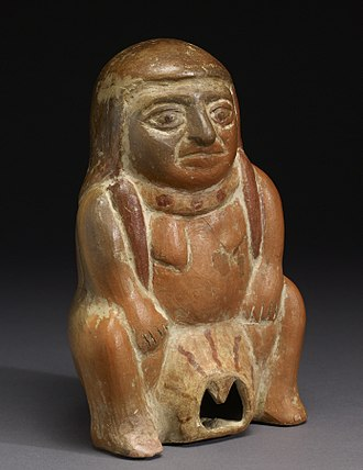 Pain management during childbirth - Moche - Female Figure in Birthing Position