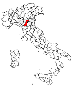 Location of Province of Modena