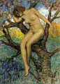Mojżesz Lejbowski Akt kobiety w konarach drzewa.jpg