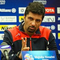 Mojtaba Hosseini at press conference of Bunyodkor match.jpg
