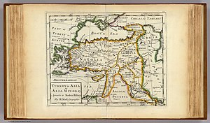 Armenians in the Ottoman Empire - Western Armenia in the first half of the 18th century. Herman Moll's map,1736