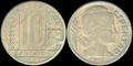 Moneda 10 centavos - Peso Moneda Nacional - 1949 - Argentina.png