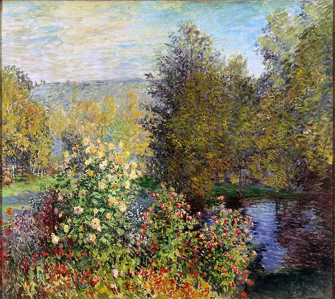 File:Monet, Claude - Corner of the Garden at Montgeron.jpg