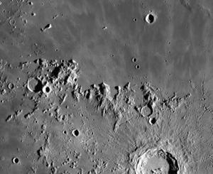 Montes Carpatus - LRO image of Montes Carpatus