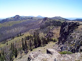 Malheur National Forest - Monument Rock in Malheur NF