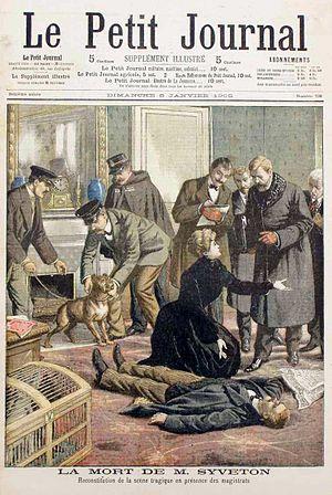 Gabriel Syveton - Mort de M. Syveton. Le Petit Journal