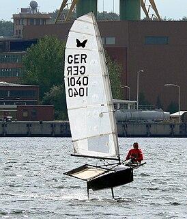 Moth (dinghy) A small development class sailing dinghy