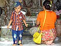 Mother and Child at Wat Phra That Doi Suthep - Outside Chiang Mai - Thailand (34309410964).jpg