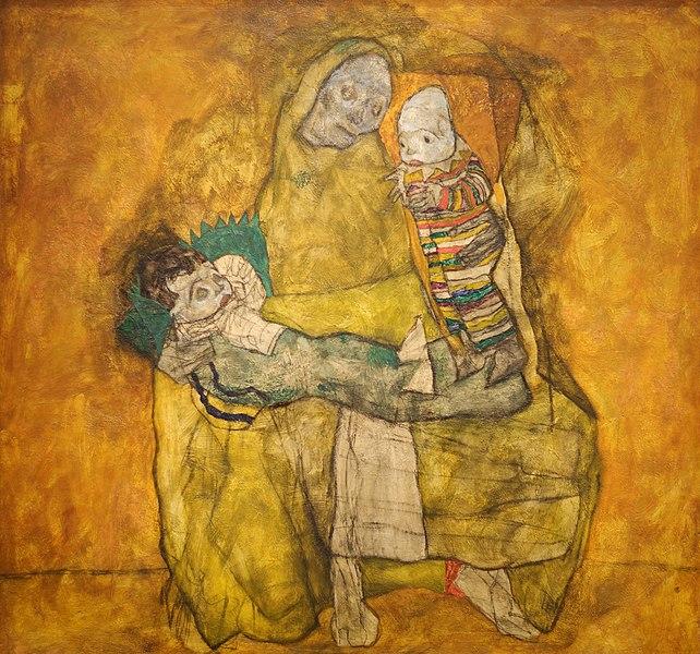 Mutter mit zwei kindern II. Egon Schiele 1915. Leopold Museum, Wien