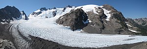 Mount Olympus Blue Glacier from Lateral Moraine Panorama.jpg
