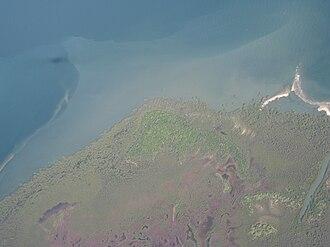 Moreton Bay Marine Park - Aerial photo of Mud Island, 2009