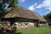 A typical old farm building in Muhu