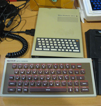 Microprofessor II - MPF II with add-on full-size keyboard attached