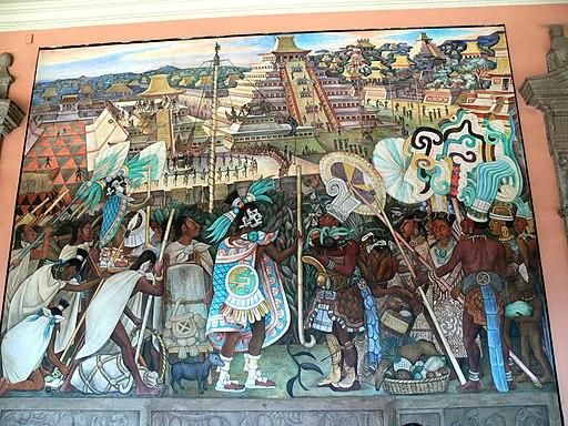 Murales Rivera - Indianer vor Tenochtitlan