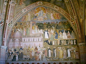 Eternal Rest - The Church Militant and the Church Triumphant, fresco by Andrea da Firenze in Santa Maria Novella, c. A.D. 1365