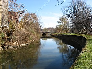 Zanesville, Ohio - The Muskingum River Canal, a major transportation artery in Zanesville in the nineteenth century