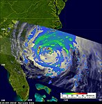 NASA's TRMM Satellite sees Irene Approaching Carolina Coast (6085918726).jpg