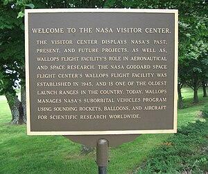 Wallops Flight Facility Visitor Center - Image: NASA Visitor Center (WFF) Sign 1