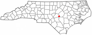 Dunn, North Carolina - Image: NC Map doton Dunn